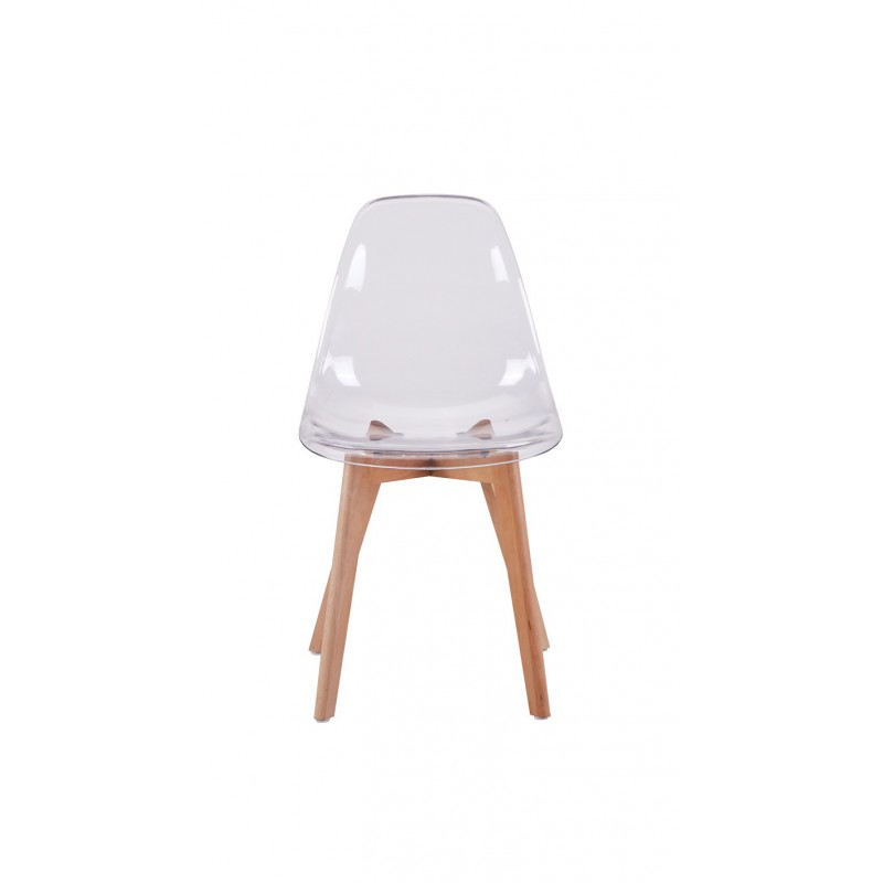 chaise scandinave assise transparente - Chaise Scandinave Transparente